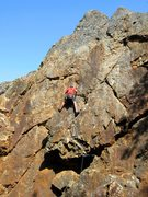 Rock Climbing Photo: Floyd Hayes leading fractured Seam 5.8. Photo by T...