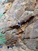 Rock Climbing Photo: Cheri Ermshar climbing Overhang 5.9. Photo by Floy...