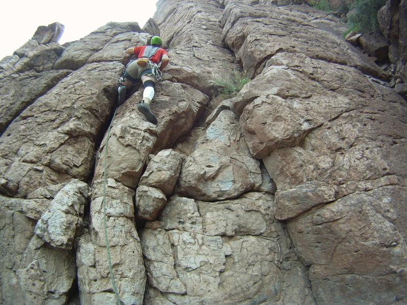 Rock Climbing Photo: cruising the easy bottom section