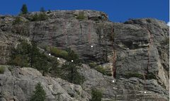 Rock Climbing Photo: Upper NW Face