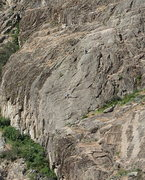 "Rock Climbing Photo: Climbers on ""Sheepish"" (5.6 *** on West ..."