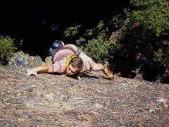 Rock Climbing Photo: John Kidda leading Kola 5.9. Photo by Floyd Hayes.