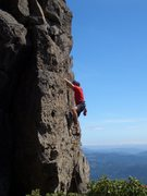 Rock Climbing Photo: Floyd Hayes leading the upper section of Night of ...