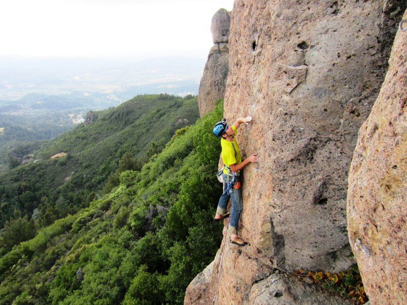 Rock Climbing Photo: Andrew Taylor leading Mystery Hole 5.10a. Photo by...