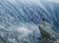 Rock Climbing Photo: Auto-timer shot looking into King Ravine on solo d...