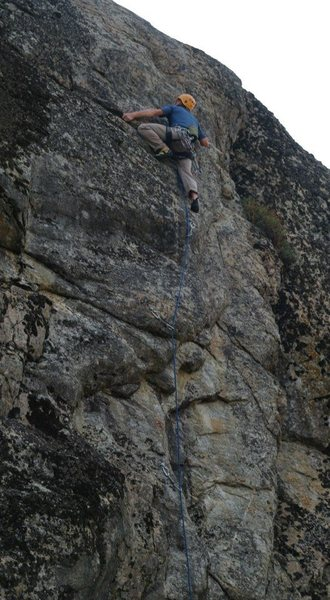 Rock Climbing Photo: Rich eyeing the crux of Vapor Trails