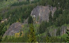 Rock Climbing Photo: Toats Coulee Crag from the south.