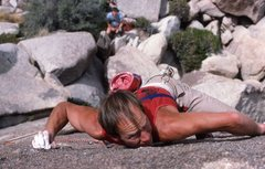 Rock Climbing Photo: Malcolm Ball pinching crystals on 2nd ascent Zen G...