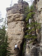 Rock Climbing Photo: Rollin' up an arete, feeling pumped, hoping ya don...