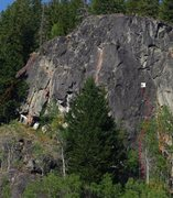 Rock Climbing Photo: Toats Coulee SW Face topo