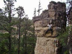 Rock Climbing Photo: Jerry fights for the last holds on Gin and Juiced,...