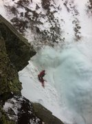 Rock Climbing Photo: Me belaying at the top of 4th pitch in Pinnacle Gu...