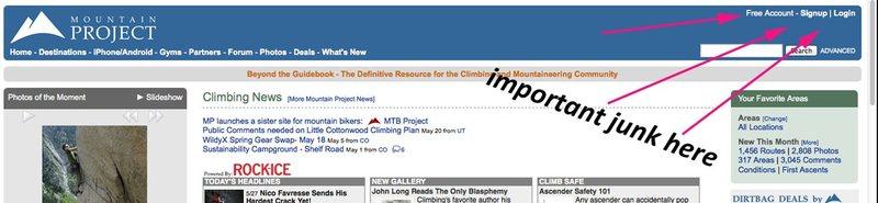 Rock Climbing Photo: homepage