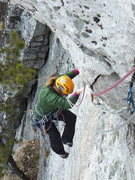 Rock Climbing Photo: Virginie on 2nd pitch...