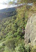 Rock Climbing Photo: Climber on Rohan's Arete, as see from Rohan's Litt...