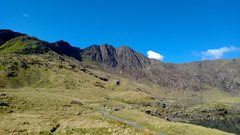 Rock Climbing Photo: Lliwedd viewed from the miners' track on a Sunny d...