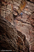 Rock Climbing Photo: Memorial Day, unknown climber on Calypso.  © 2013...