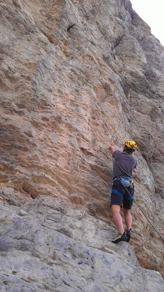 Rock Climbing Photo: Heading up the .10c