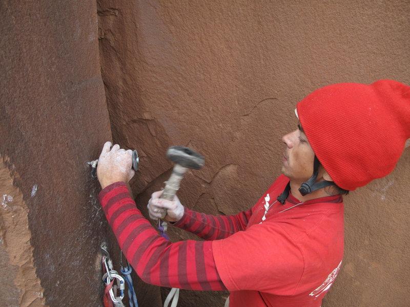 Rock Climbing Photo: hammer time!
