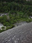 Rock Climbing Photo: caughtinside ponders the second pitch crux on Smok...