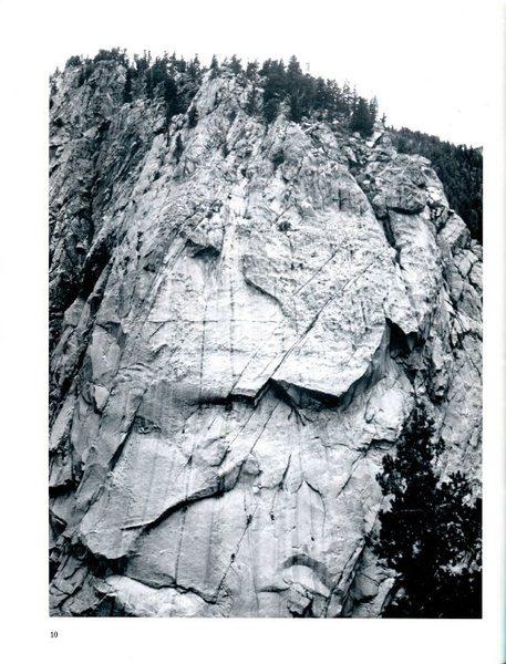 FA of a Q of B, Climbing #44, inside photo, summer 1977 - Pam Banks photo