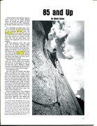 Rock Climbing Photo: FA of a Q of B, Climbing #44, p. 1  Errata highlig...