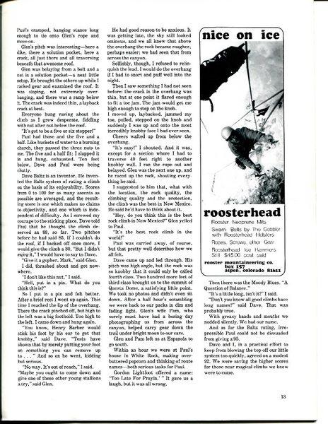 Rock Climbing Photo: FA of a Q of B, Climbing #44, p. 3