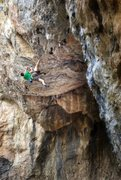 Rock Climbing Photo: the lip traverse shared by Atmosphere, The Blue Ma...