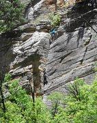 Rock Climbing Photo: FA of Young Guns, May 2013