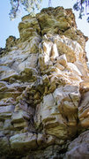 Rock Climbing Photo: Project Route on the south face - crumbly, terrify...