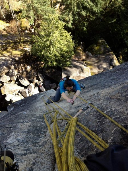 Rock Climbing Photo: Sentry Box 12a, nightmare rock squamish
