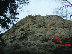 Rock Climbing Photo: Climber is at the top of pitch 1.