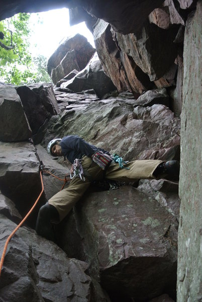 "Rock Climbing Photo: Steve Zaleski leading ""Oh Rats"" Memorial..."