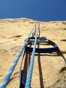 Rock Climbing Photo: Looking up from about the halfway point with the t...