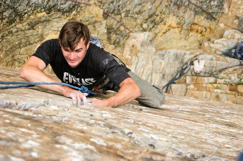 Rock Climbing Photo: Devon hittin up the wasatch