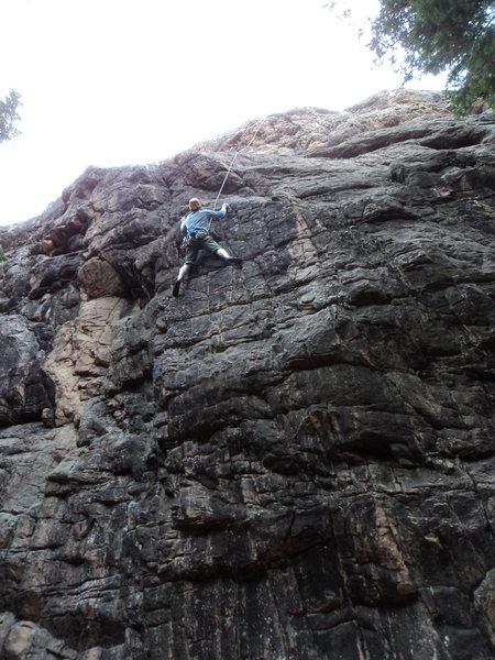 Dave enjoys the climb.