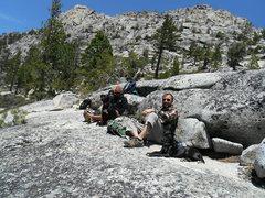 Rock Climbing Photo: Sierra and Miya