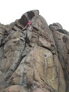 """Rock Climbing Photo: Opening moves onto the arete for """"Mr. Peery T..."""