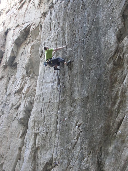 Rock Climbing Photo: Taylor Roy on Slice of Death.  Photo by Leah Fraze...