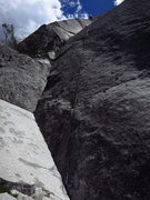 Rock Climbing Photo: Long, fun 5.9 dihedral pitch leads to the top of t...