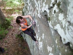 Rock Climbing Photo: Charis LaForge on Owl-Cat