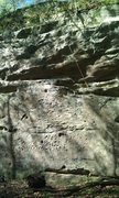 Rock Climbing Photo: The main wall of the Top Hat Tower. Owl-Cat is the...