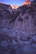 Rock Climbing Photo: Low on San Jacinto. 1971. Just a bit of spindrift ...