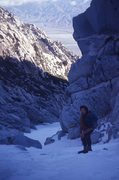 Rock Climbing Photo: Paul Gleason 1971, mid-route with perfect conditio...