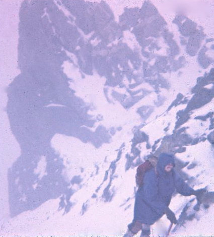 Phil Gleason, 1967. Having fun near the ridge.