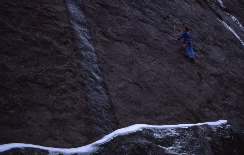Rock Climbing Photo: Snow at the base - Behind The Scenes Wall