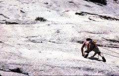 Rock Climbing Photo: FA Rainbow Warrior, Chernobyl Wall, North Dome.