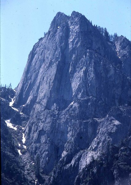 Rock Climbing Photo: Grand Sentinel as viewed from North Dome, Zumwalt ...
