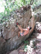 Rock Climbing Photo: Another traverse. On the downhill side of the trai...
