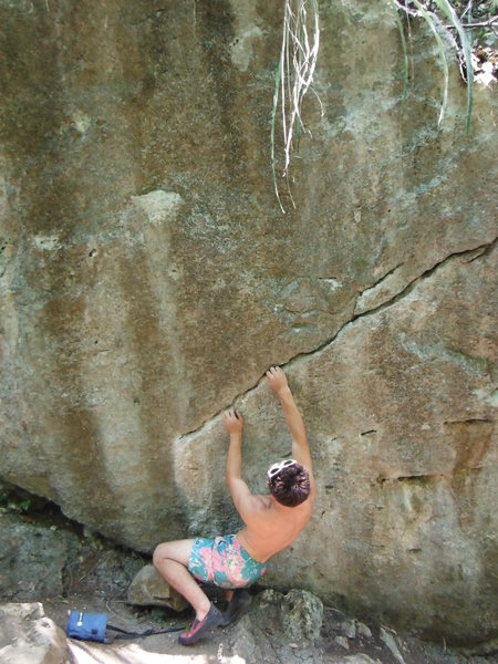 Rock Climbing Photo: Uphill from the two other pictures. Start low on t...